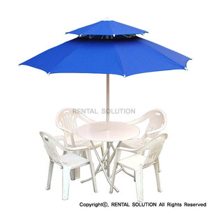 Parasol Table Set_blue